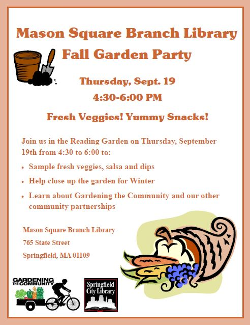 GTC's Fall Garden Party: Thursday, September 19!